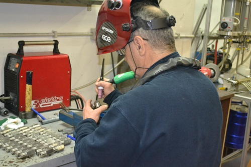 Welding Thermometers - AM&C technician at work