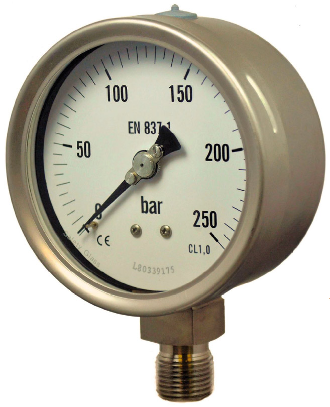 MNSS series Full Stainless Steel Industrial Pressure Gauges