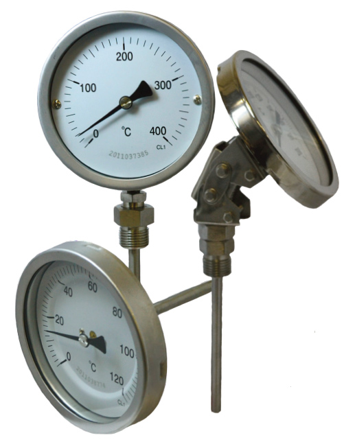 BTSS series Full Stainless Steel Bimetal Thermometers