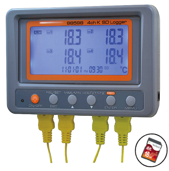AM88598 series 4 channel Temperature Data Logger